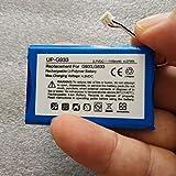 CENYAFAN 3.7V Batería for LOGITECH G933 Artemis Spectrum G533 Auricular Li-Polymer Recargable Acumulador reemplazo 533-000132 Herramienta de Montaje de Piezas RC