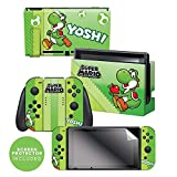 Controller Gear Nintendo Switch Skin & Screen Protector Set, Officially Licensed By Nintendo - Super Mario Evergreen 'Yoshi Eggs' - Nintendo Switch