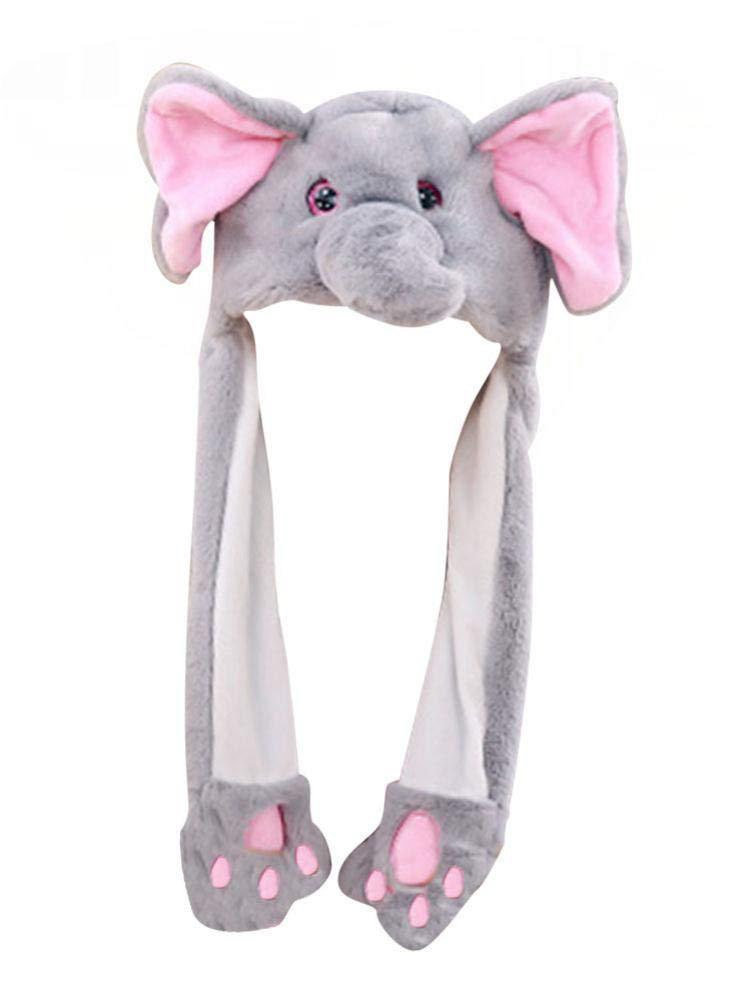 Seasaleshop Elefante Ears Sombrero de Elefante de Felpa, Sombrero ...