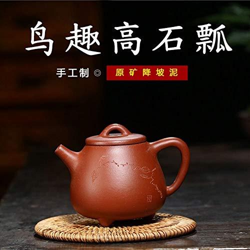 JIANGNANCHUN Tetera de Tetera de Tetera de Cuchara de té Puede Reducir la Pendiente Takaishi (Color : Downhill mud)