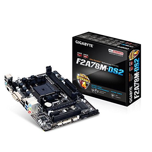 Gigabyte GA F2A78M DS2 Mainboard Sockel FM2 Micro ATX AMD A78 DDR3 Speicher USB 30 USB 20
