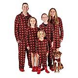 Mad Dog Concepts Matching Set Family Christmas Holiday Pajamas + Slipper Socks (Red Plaid, Women's...