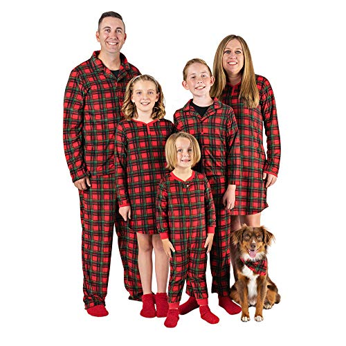 Mad Dog Concepts Matching Set Family Christmas Holiday Pajamas + Slipper Socks (Red Plaid, Toddler Small (2T))