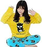 SCRT Pijama Pijamas de Invierno de Las Mujeres de Espesamiento, además de Terciopelo de Coral, además de Fertilizantes Inicio Desgaste del Juego (Color : Yellow, Size : 5XL)