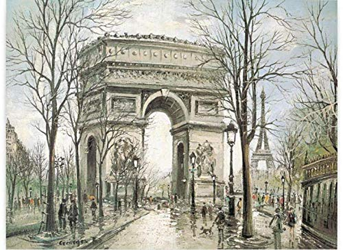 Rompecabezas 1000 piezas de rompecabezas de madera Juegos intelectuales para adultos y niños en el Arco del Triunfo de París.