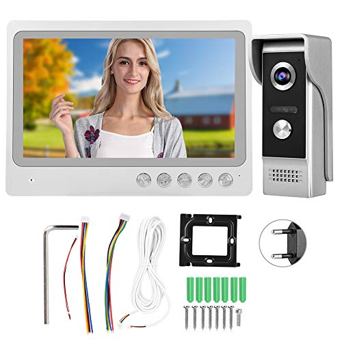 Infrarot Nachtsicht Video Türklingel 100-240V Intercom Türklingel, Lauter Ton für den Zugang Aufnahme nach Hause(European regulations)
