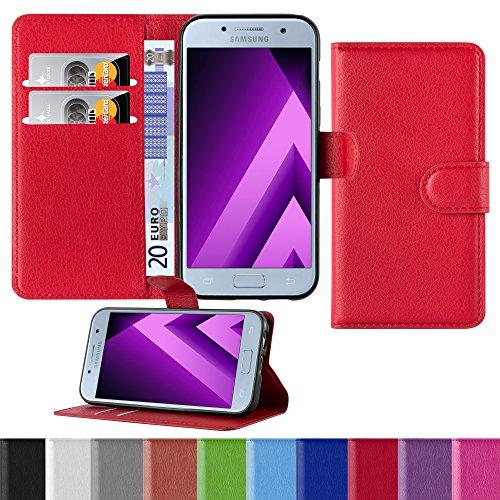 Preisvergleich Produktbild HANDYPELLE Premium Handyhülle kompatibel mit Samsung Galaxy A3 2017 (SM-A320) in Rot