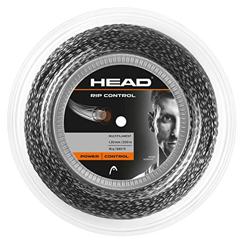 Head Rip Control Rollo Cordajes de Raquetas de Tenis, Adultos Unisex, Negro, 16