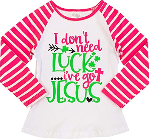 Baby Toddler Little Girls Valentine's Day, St. Patrick's Day, Easter Raglan T-Shirt Fashion Tee Top 3