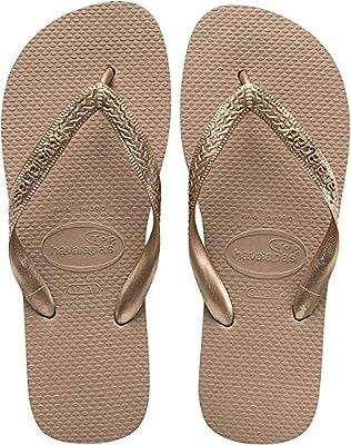 Havaianas Women's Top Tiras Flip Flop Sandal, Rose Gold, 9/10 M US