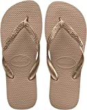 Havaianas Women's Top Tiras Flip Flop Sandal, Rose Gold, 9/10 M US