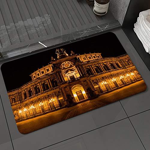 Alfombra de baño y Alfombra antideslizanteÓpera Arquitectura barroca Alemania Dresde Arcadas Pilastras Terraza Luces Tenues.JPEGAlfombrilla de Ducha de Microfibra (50x80cm)