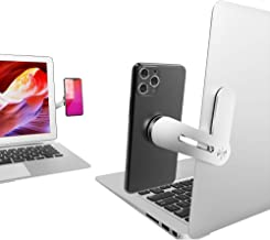 SUNTAIHO Adjustable Laptop Side Mount Clip on Monitor Magnetic Laptop Stand with Phone Holder...