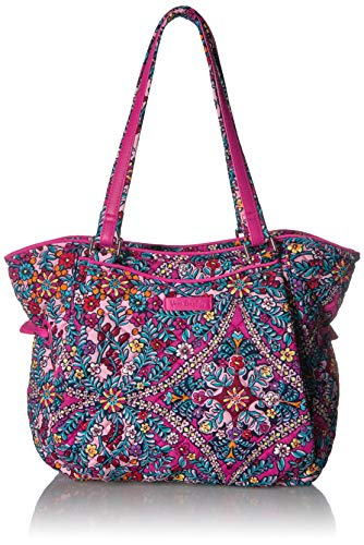 Vera Bradley Signature Cotton Glenna Satchel Purse, Kaleidoscope