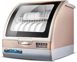 Lavavajillas portátil, 5 l compacto de encimera, lavavajillas inteligente, sin perforación, mini limpiador automático de platos, alta temperatura y alta eficiencia esterilización