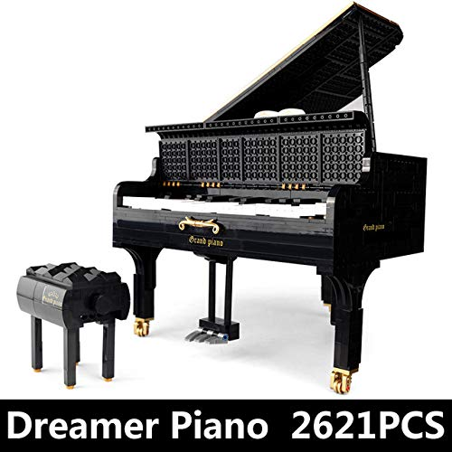 MeterMall Building Blocks The App Control Legoing Playable Grand Piano Set Kids Toys Christmas Gifts Static version (excluding power pack)
