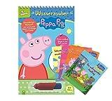 Peppa Pig Wasserzauber - Libro para colorear con bolígrafo de reserva de agua + 4 minilibros de Peppa Pig para colorear y rompecabezas a partir de 3 años
