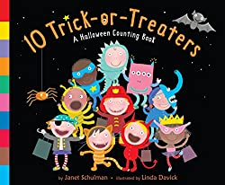 10 Trick-or-Treaters a Halloween counting board book