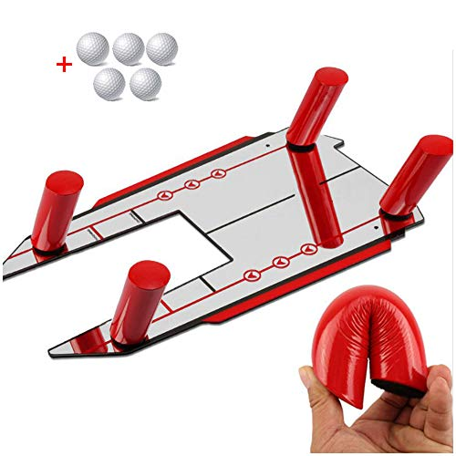 FHUILI Golf Speed ​ ​ Trap basis - Golf Swing Trainer Golf Trainingshulp - Golf Practice Schommel Pad vliegtuig Trap Golf Leer Equipment Hulpment Schommel Oefening Posters Correctief gereedschap
