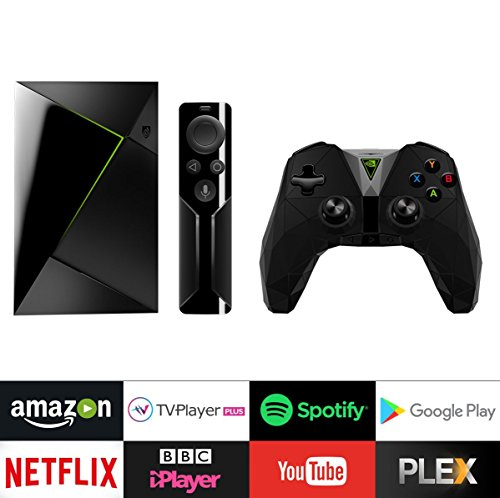 Nvidia SHIELD TV with Remote and Controller, Black