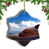Weekino America USA Pikes Peak Highway Christmas Ornament Travel Souvenir Tree Hanging Pendant Decoration Porcelain 998' Double Sided