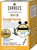 Zarbee's Naturals Baby Cough Syrup with Agave & Thyme, Natural Cherry Flavor, 2 Ounce Bottle