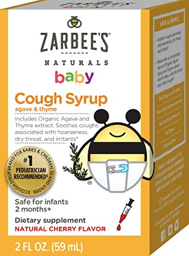 Zarbees Naturals Baby Cough Syrup with Agave & Thyme 2oz Now $3.98 (Retail $8.40)