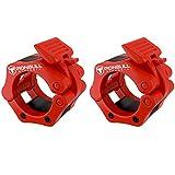 Iron Bull Strength Langhantelhalsbänder (Paar) - Verriegelung 2' Olympic Size Weight Clamps - Quick...
