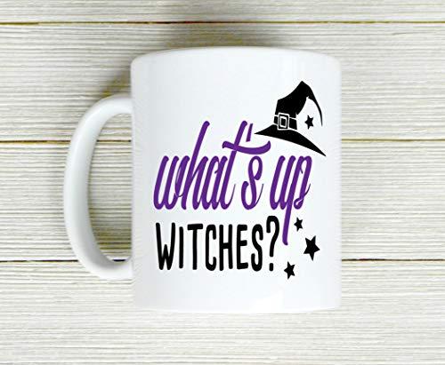 Alicert5II Whats Up heks koffiemok Halloween beker heks theekop keramische mok grappige mok koffiemok koffiemok