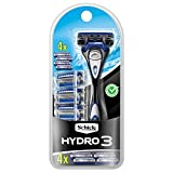 Schick Hydro 3 Razor for Men Value Pack with 4 Razor Blade Refills