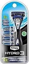 Schick Hydro 3 Razor for Men Value Pack with 4 Razor Blade Refills