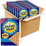 One package of twelve 14.4 oz boxes of Honey Maid Honey Graham Crackers Made with real honey for delicious flavor Square shaped graham snacks have a crunch in each bite Enjoy as an afternoon snack or stack with marshmallows and chocolate for yummy s'...