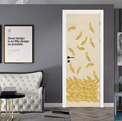BVCK Feather 3D Self Adhesive Dishwasher Refrigerator Wrap Freezer Sticker Kid's Art Fridge Door Cover Wallpaper