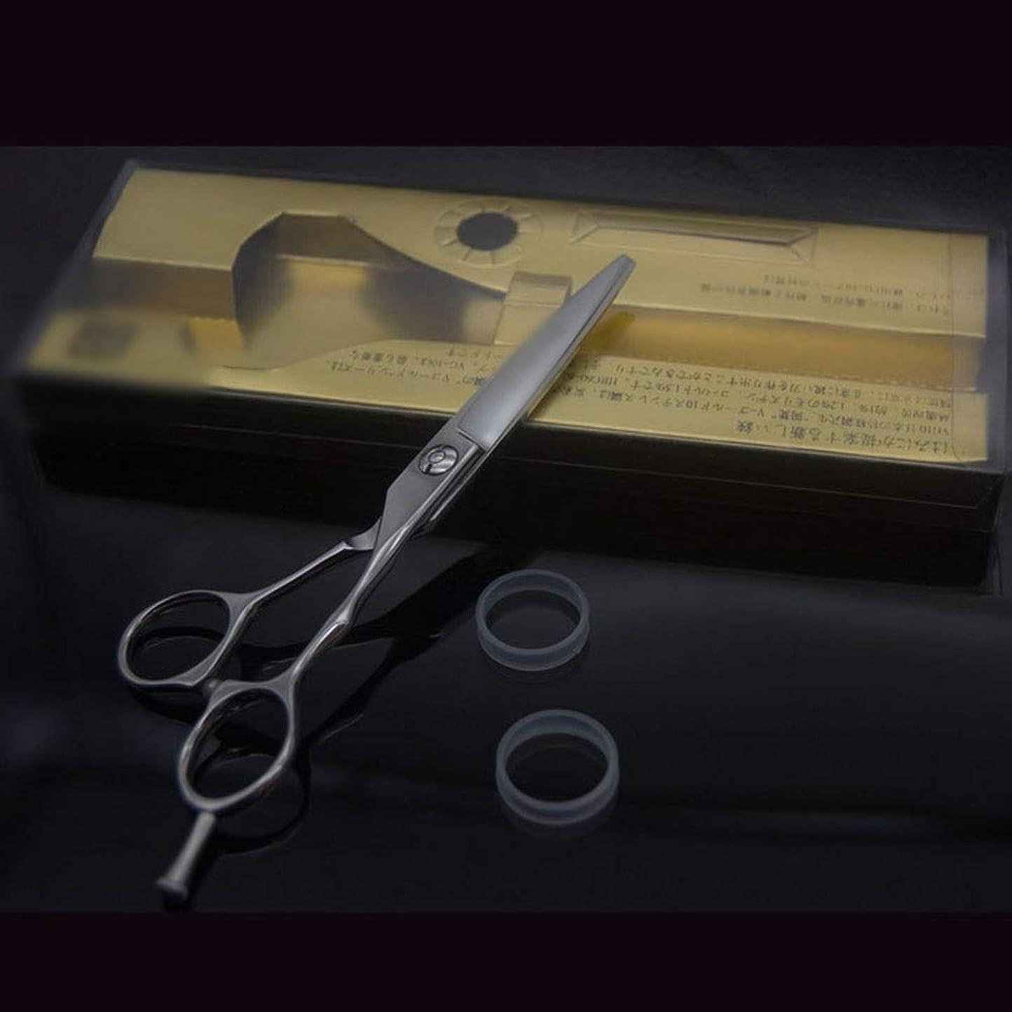エンジン剛性チャームHairdressing 6インチ美容院プロフェッショナル理髪はさみ、ハイグレード滑り止めフラットはさみヘアカットシザーステンレス理髪はさみ (色 : Silver)