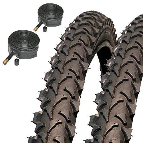 Coyote TY2607 Pro 26' x 1.95 Mountain Bike Tyres with Schrader Inner Tubes (Pair)
