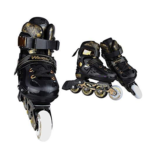 Bequem und atmungsaktiv Quad Skates für Mädchen, Jungen, Jugendliche Herren- und Damenrollschuhe Chromkugellager Unisex-Fitnessschuhe für Erwachsene,Verstellbare PU-Gummi-High-Top-Sneakers