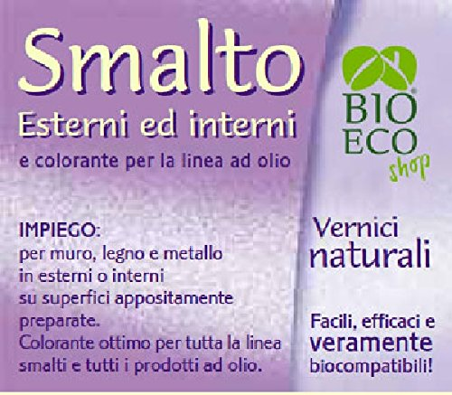 Bioecoshop Smalto Linea Olio Per Esterni Interni F11 Bioeco SOL 100 ml. Tinta Nero