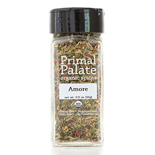 Primal Palate Organic Spices Amore Seasoning, Certified Organic, 0.9 oz Bottle