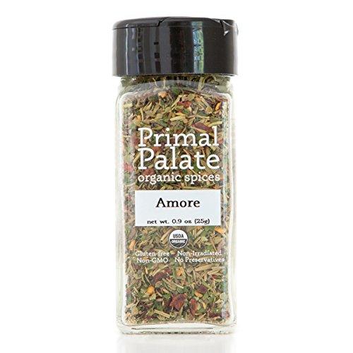 Primal Palate Organic Spices Amore Seasoning, Certified Organic, 0.9 oz...