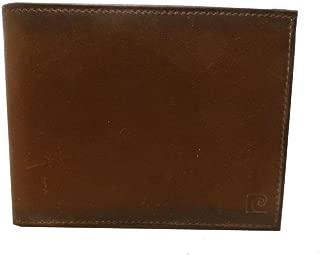 New Pierre Cardin Men's Genuine Leather Passcase Billfold Wallet (Brown)