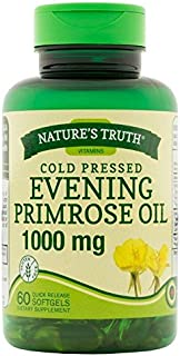Nature's Truth Cold Pressed Evening Primrose Oil 1000 mg Capsules, 60 Count