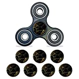MightySkins Vinyl Decal Skin Compatible with Fidget Spinner Center Cap – Black Gold Marble | Protective Sticker Wrap for Your Fidget Toy Bearing Cap | Easy to Apply Cover