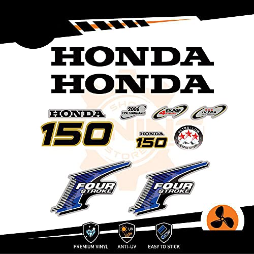 Generico Four Stroke - Kit de adhesivos para motor marino fuera de borda Honda 150 CV - Versión B