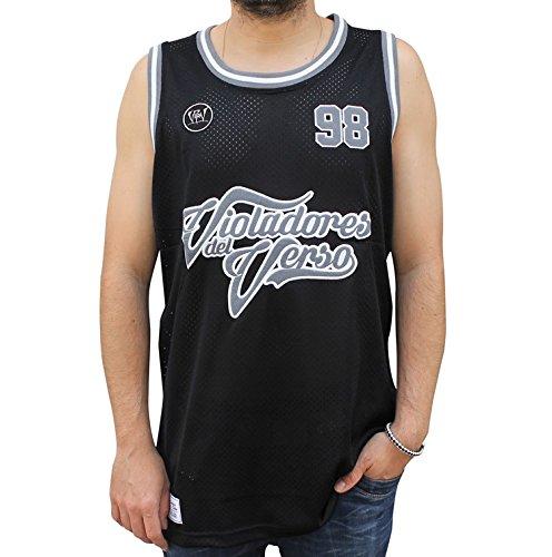 NPNG Camiseta de Tirantes VIOLADORES del Verso Hardcore Unisex, de Polyester en Color Negro