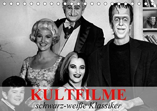 Kultfilme - schwarz-weiße Klassiker (Tischkalender 2021 DIN A5 quer)