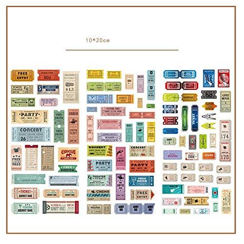3pcs/lot Retro stamps Journal Decorative Stickers set Scrapbooking Stick Label Diary Stationery Album Stickers