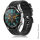 TOPsic Correa Huawei Watch GT 2/Huawei Watch GT Fashion/Sport/Active/Elegant/Classic/Gear S3 Frontier/Galaxy Watch 46mm/S3 Classic, 22mm Pulsera de Repuesto de Silicona Banda