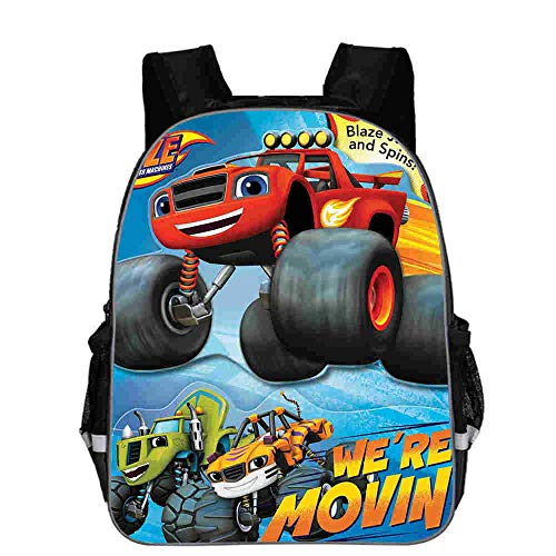 School Bag Teenager Cartoon Blaze and The Monster Machine Print Backpack Boys Primary School Bags Rucksack Schoolbags for Boys Mochilas Ask Seller for Styles