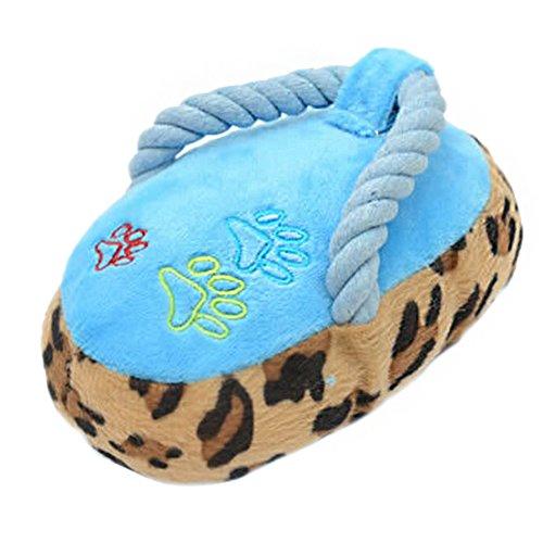 Milopon Quietschend Hundespielzeug Pet Puppy Plüsch Squeak Kauen Spielzeug mit Sound für Haustier Ausbildung 16 * 10 * 8.5cm (Blau)