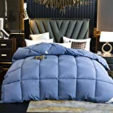 Goodlife-1 Bettdecke Winter Daunensicherer Stoff aus 100% Baumwolle fühlt Sich an wie EIN klassischer Quilt gegen Allergien-Blau_200x230cm - 3kg